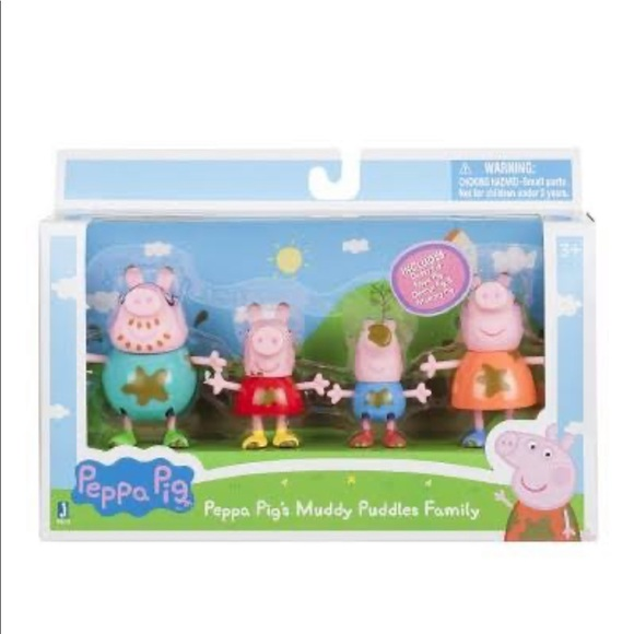 Peppa Pig Other - NWT Peppa Pig Muddy Puddle Family Figures